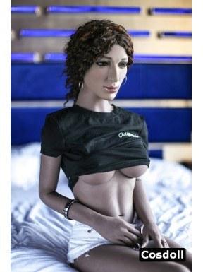 La blackette câline - Sex doll Cosdoll - Aspen - 165cm